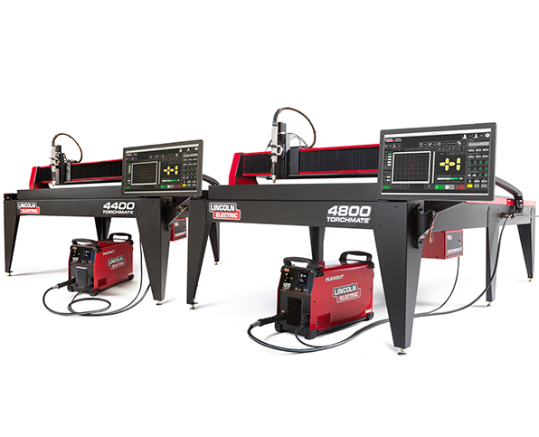 TORCH MATE plasma cutting machine, flex cut 125 air plasma, accumove inc controller, 4400 and 4800