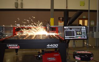 Torchmate 4400 plasma cutting machine in action